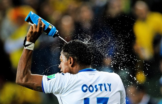 honduras-carlo-costly-sprays-water-on-himself-while-celebrating-his-teams-first-goal