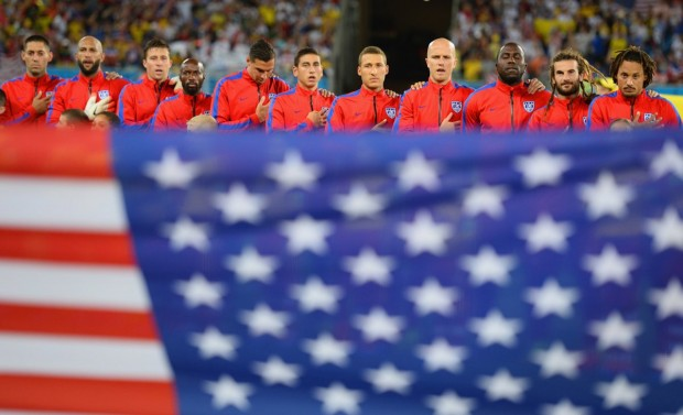 the-usmnt-sings-the-anthem-behind-the-american-flag-before-their-ghana-game