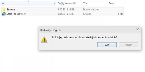 tor browser kaldırma